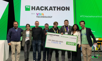 Myneral.me claims the win at the TechCrunch Hackathon at the Viva Tech