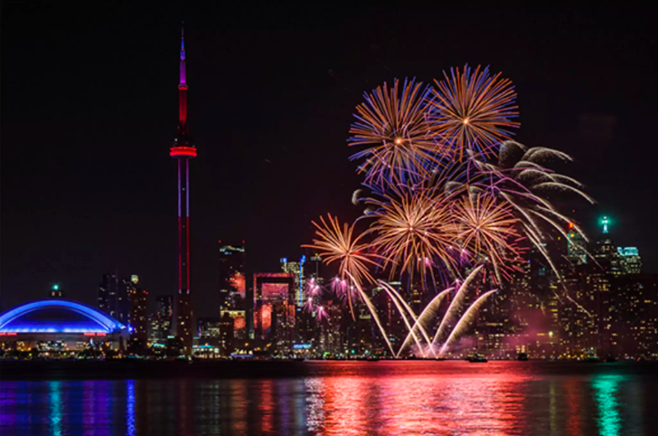 Canada Day 2019 Fireworks in Toronto