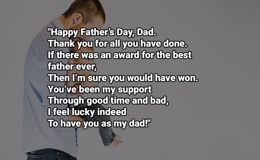 Father's Day 2 Line SMS