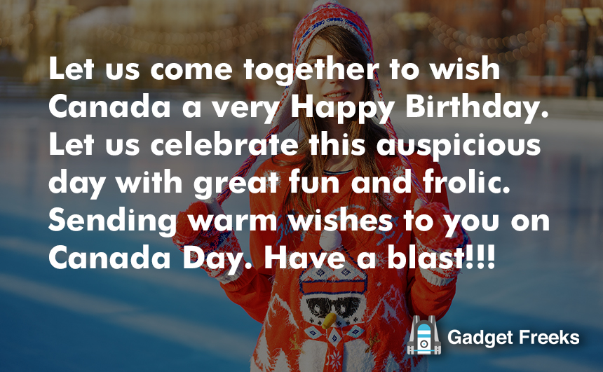 Greetings of Canada Day 2019