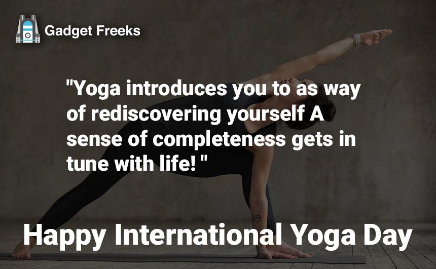 International Yoga Day Sayings