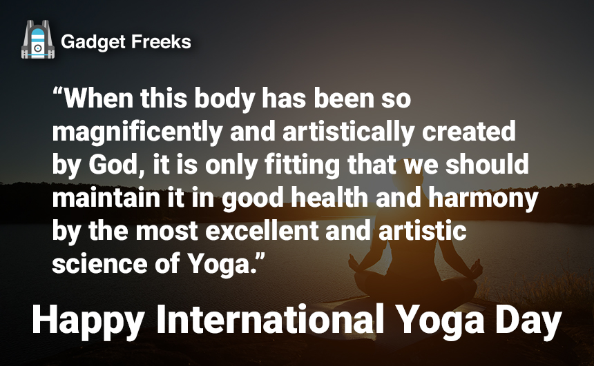 Yoga Day Quotes for 21st June