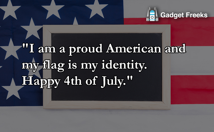 USA Independence Day Greetings with Image