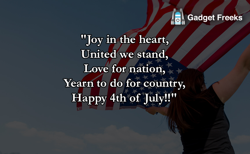 USA Independence Day Quotes with Image for 4th July