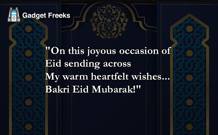 Bakri-Eid messages