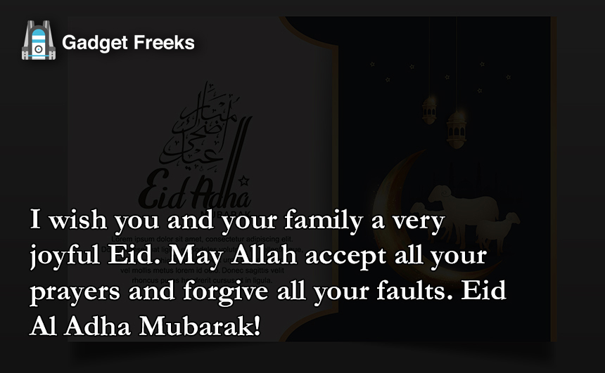 Eid Al Adha Mubarak Greetings