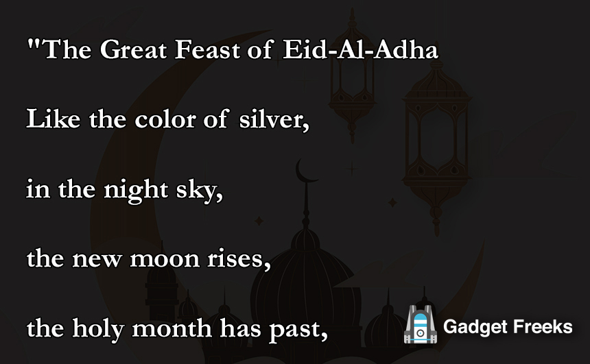 Eid Ul Adha Poems 2019 - Eid Mubarak Poetry