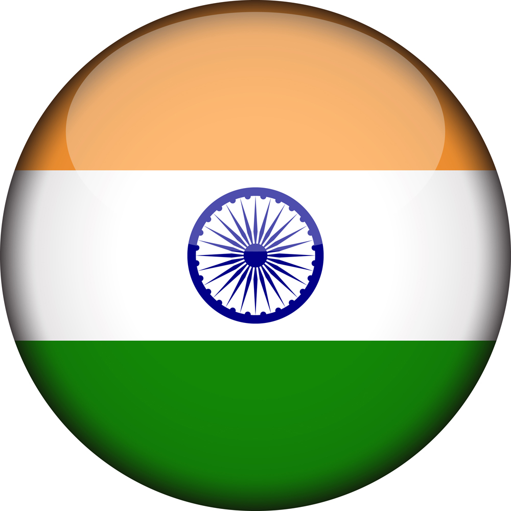 Indian flag 3D Round