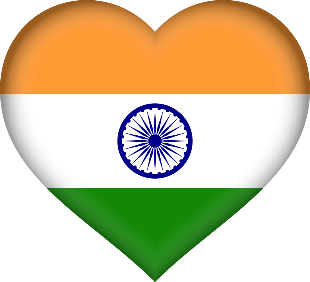 Indian flag Heart 3D
