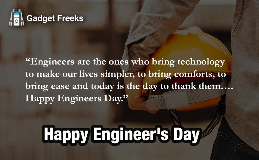 Engineer Day Greetings