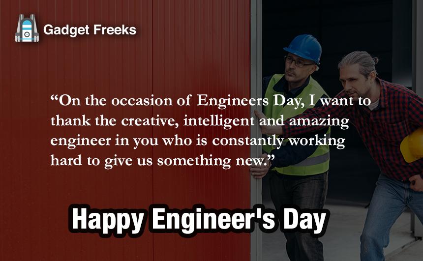 Engineer's Day Status for Whatsapp