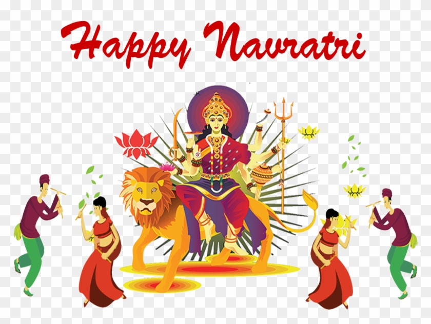 Happy Navratri 2019 Sticker
