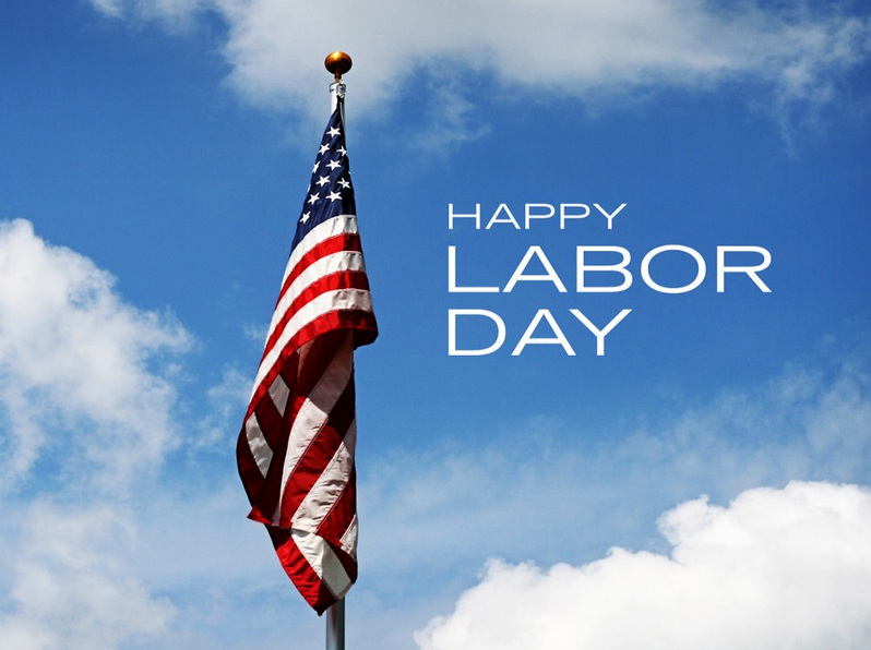 Labor Day with US Flag Image