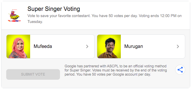 Super Singer 7 Online Vote