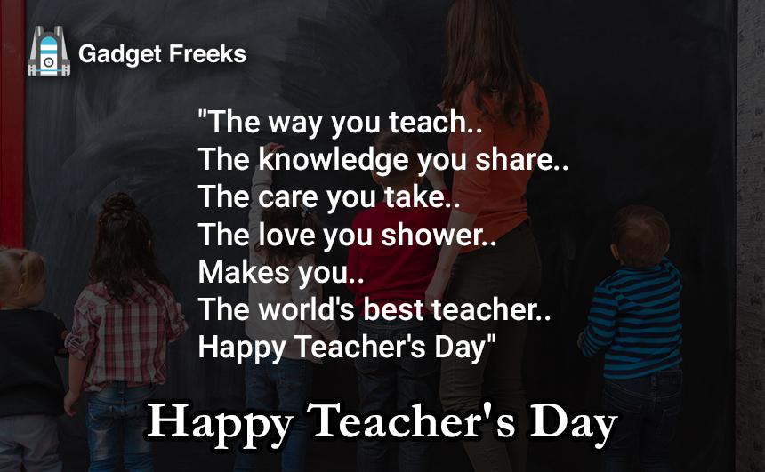 Teacher's Day Messages for Teacher's & Guru's