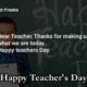 Teacher's Day Status