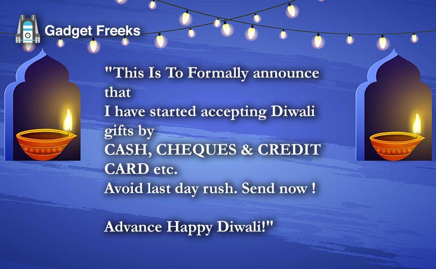 Advance Happy Diwali Messages