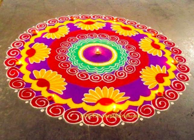Beautiful Diwali Special Rangoli Pictutre