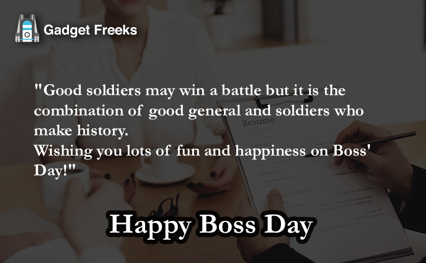 Boss Day 2019 Messages
