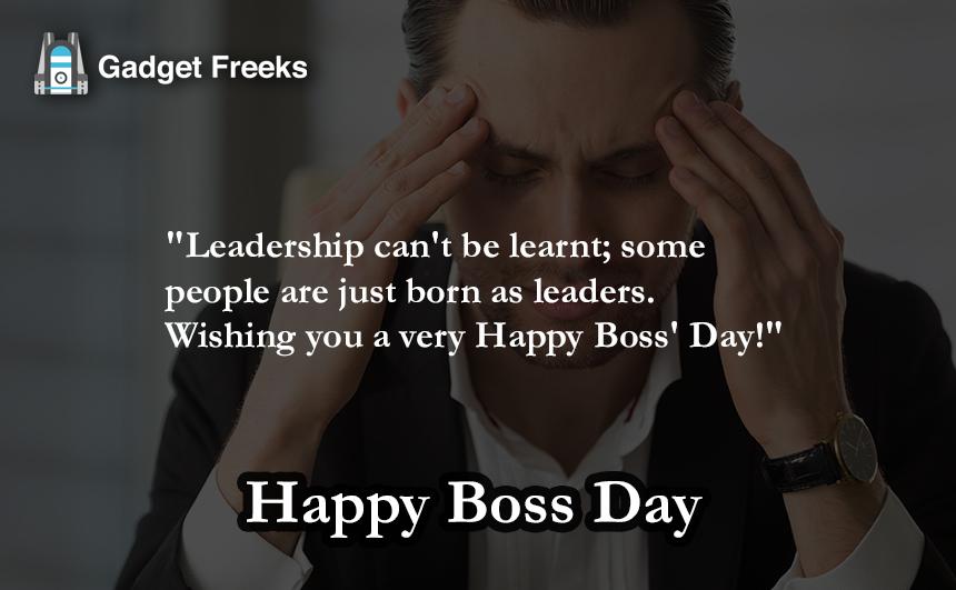 Boss Day Status