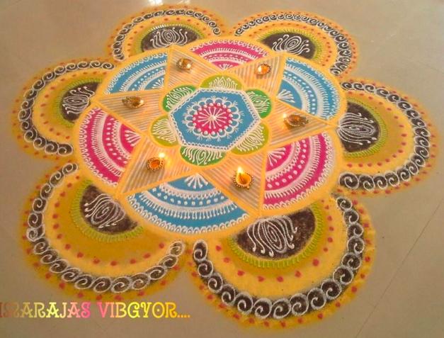 Designer Rangoli For Diwali Festival