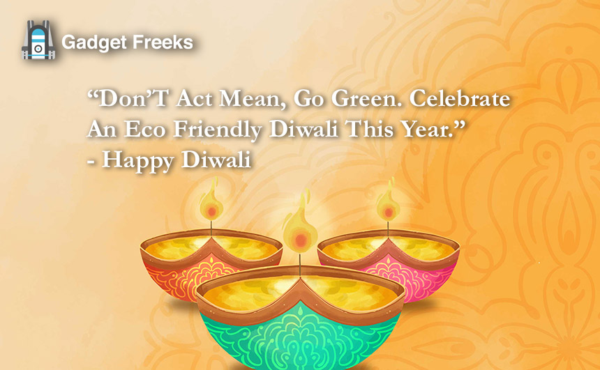 Eco-Friendly Diwali Quotes