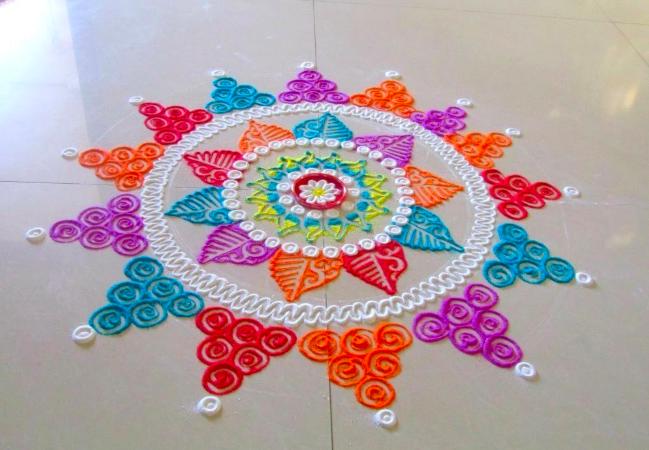 Good Rangoli Design For Diwali