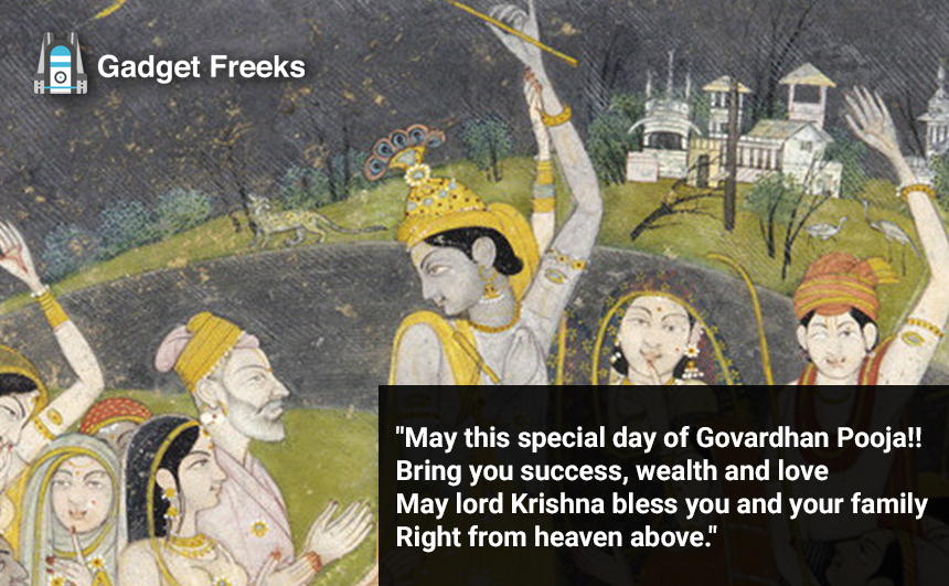 Govardhan Puja Wishes for Friends & Family