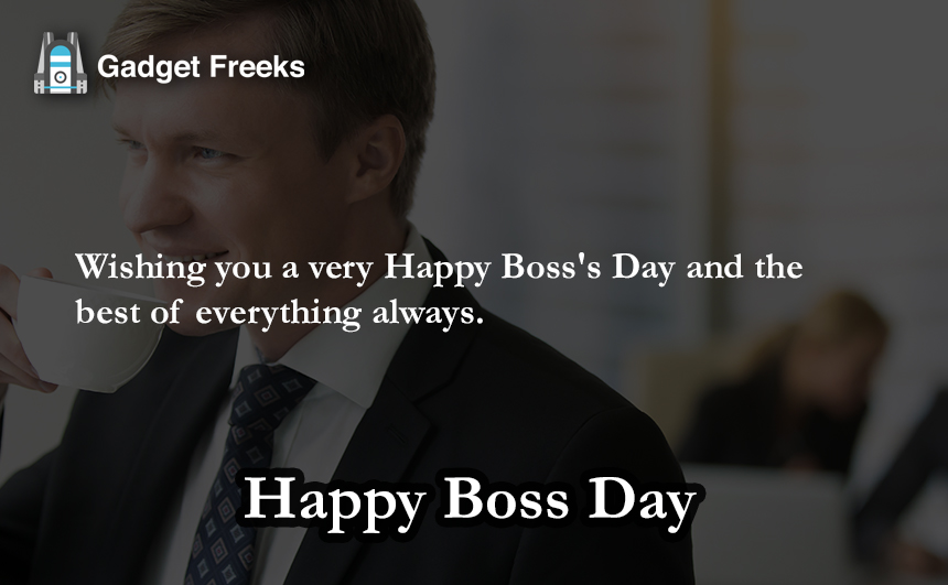 Happy Boss's Day SMS