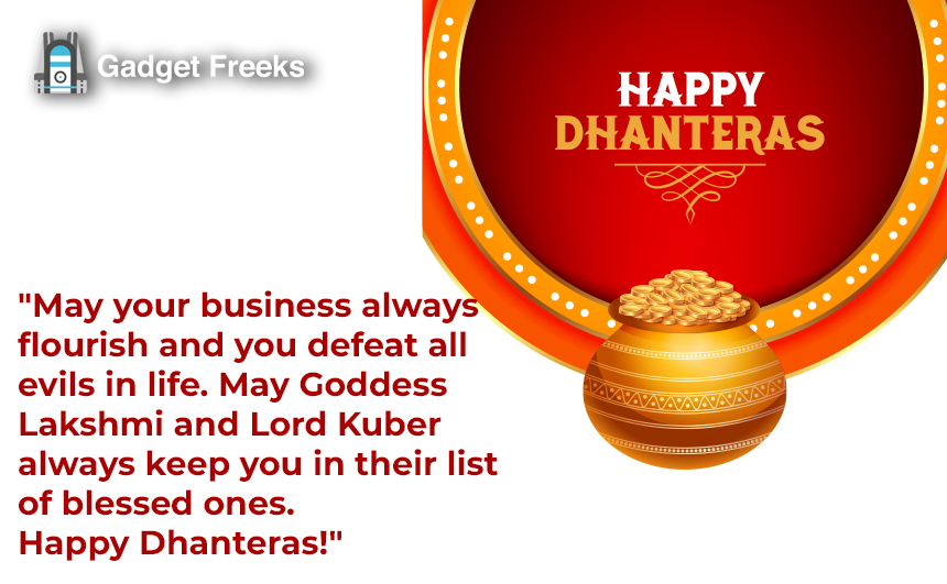 Happy Dhanteras Wishes for Friends & Family