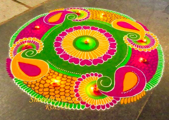 Latest Rangoli Designs For Diwali Celebration