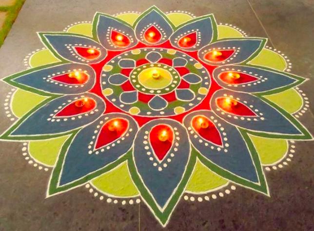 New Diwali Rangoli Patterns