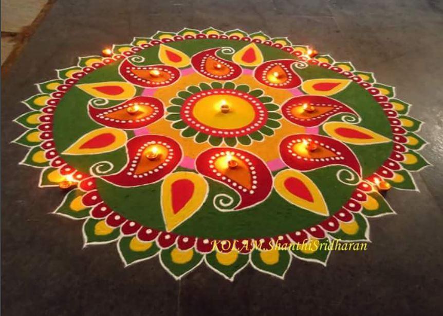 Rangoli Designs for Deepavali 2019