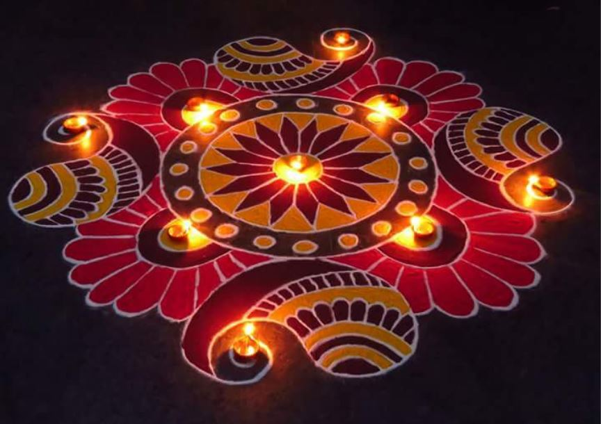 Rangoli Images with free hand