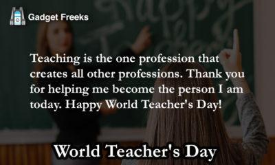 World Teacher' Day Wishes