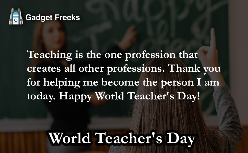 World Teacher' Day Wishes