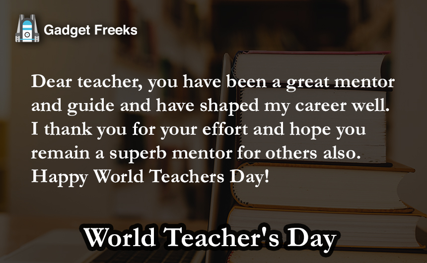 World Teacher's Day 2019 Status