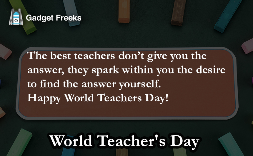 World Teacher's Day SMS