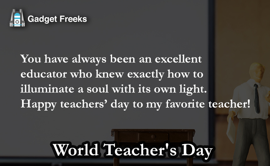 World Teacher's Day Short Status