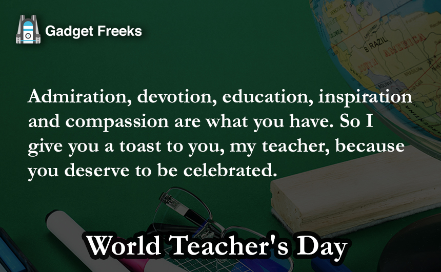 World Teacher's Day Status for Whatsapp