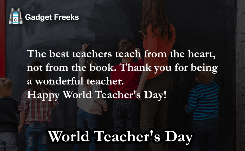 World Teacher's Day Wishes for Teachers