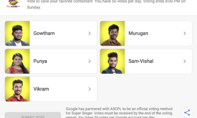 Super Singer Voting Result Today