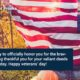 Veterans Day Messages