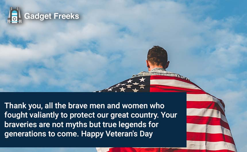 Veterans Day Thank You SMS