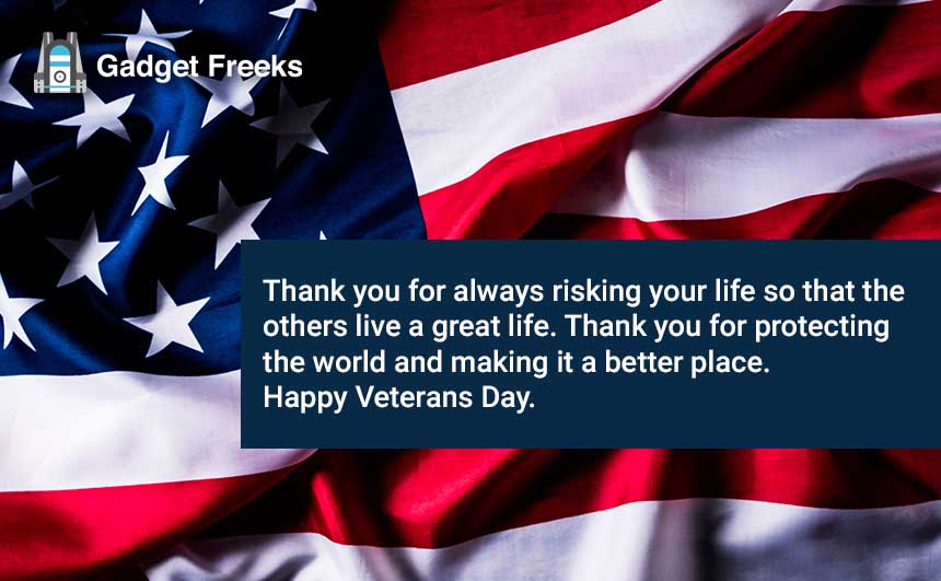 Veterans Day Thank You Wishes