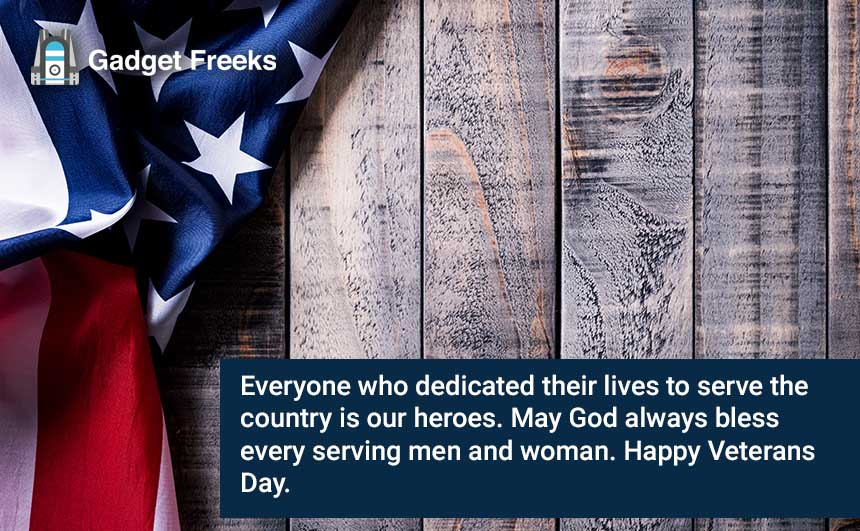 Veterans Day Wishes for Family