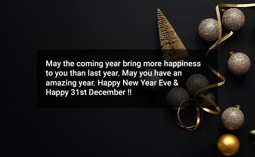 31st December Status for Whatsapp