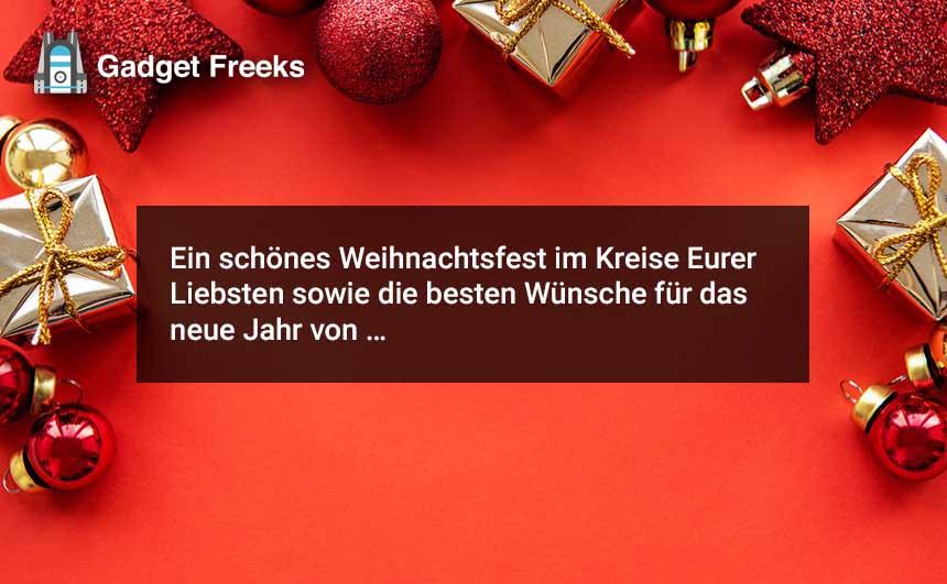 Frohe Weihnachten Nachrichten