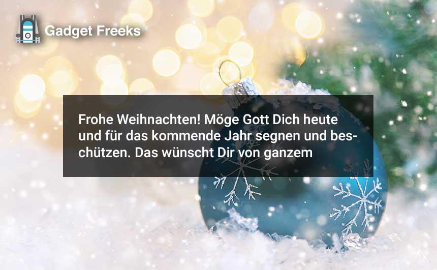 Frohe Weihnachten Wünscht