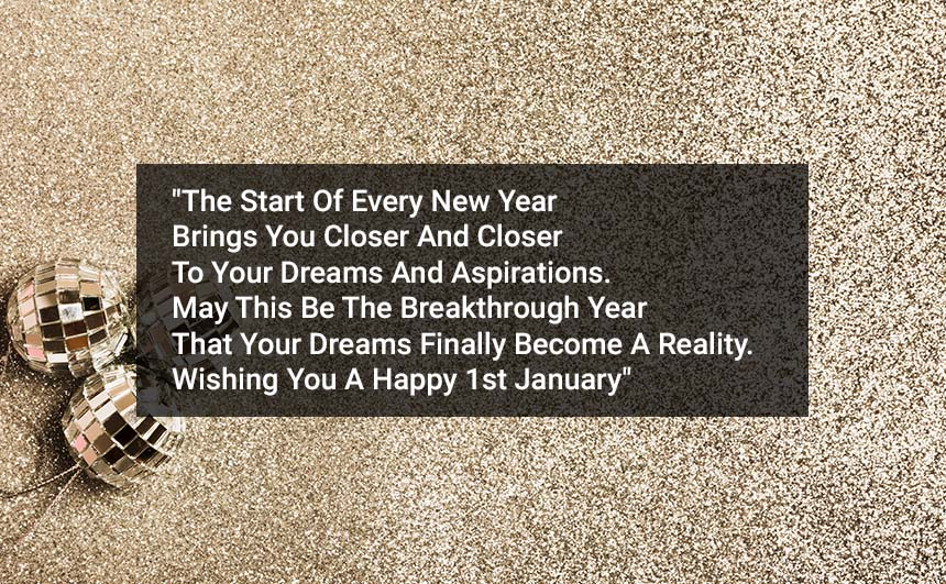 Happy 1st January Messages